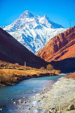 tajikistan: Ice peaks in tajik mountains, Tajikistan