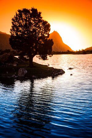 tajikistan: Kulikalon lakes, Fann mountains, tourism, Tajikistan Stock Photo