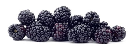 Beautiful issolated juice blackberry on white background Standard-Bild