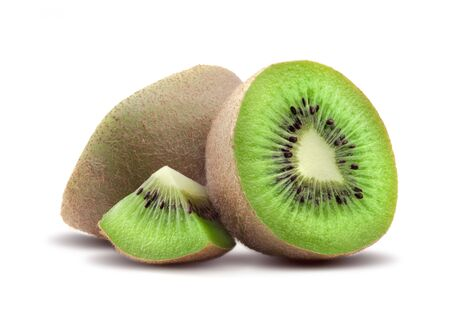 Beautiful issolated kiwi on white background Banque d'images