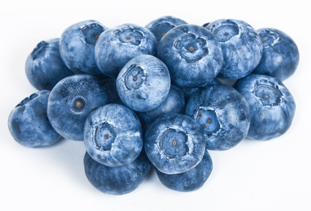 Ripe and Fresh Blueberries On A White Background 스톡 콘텐츠