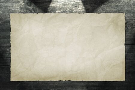 Old Paper on Wood Texture Background photo