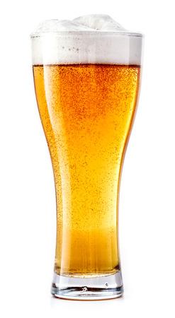 Glass of fresh beer Imagens