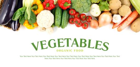 campesinas: Close-up hortalizas con el espacio para el texto.