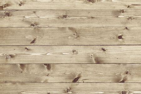 unpainted: Architectural background texture of a panel of natural unpainted pine board cladding with knots and wood grain in a parallel pattern conceptual of woodwork, carpentry, joinery and construction Stock Photo