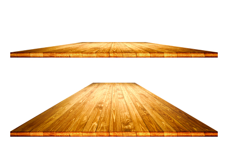 Empty wooden table with clipping path Stock Photo