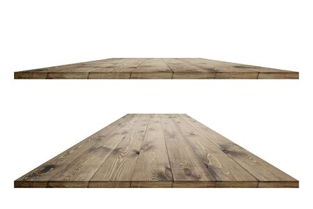 Rustic wooden table vintage with clipping mask