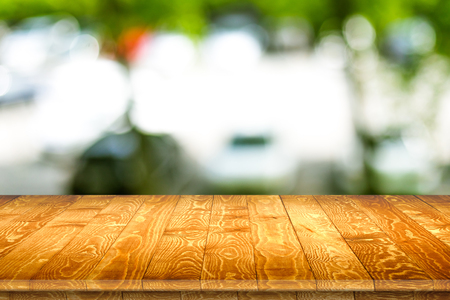 Wall of old wooden plank boards. Wooden material texture surface. Stock Photo