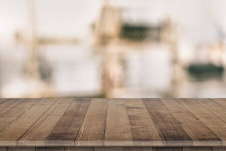 Empty wooden table for product placement Stock fotó