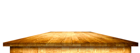 Empty wooden table perspective with clipping mask Stock Photo