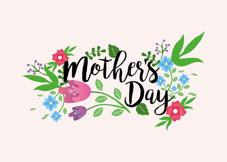 Mothers day Floral Vector