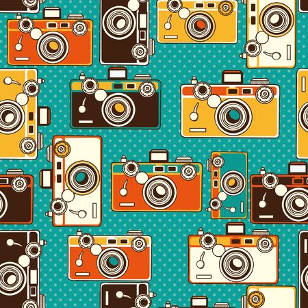 vintage kleurrijke foto's naadloos patroon