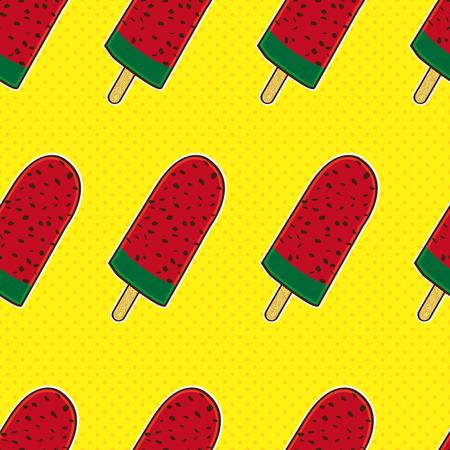 cartoon ice cream: colorido patr�n transparente helado Vectores