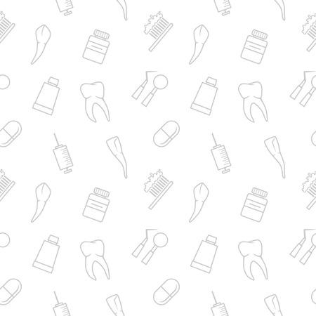 Seamless teeth vector pattern on white background Zdjęcie Seryjne - 27493435