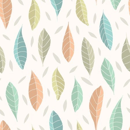 limon: Vector seamless pattern with leaves on white background