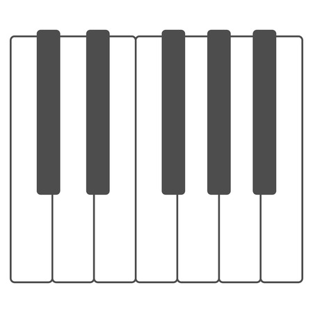 Black and white piano keys vector illustration