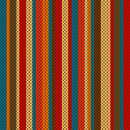 wool texture: Vector striped pattern on the wool knitted texture. Winter colorfull ornament