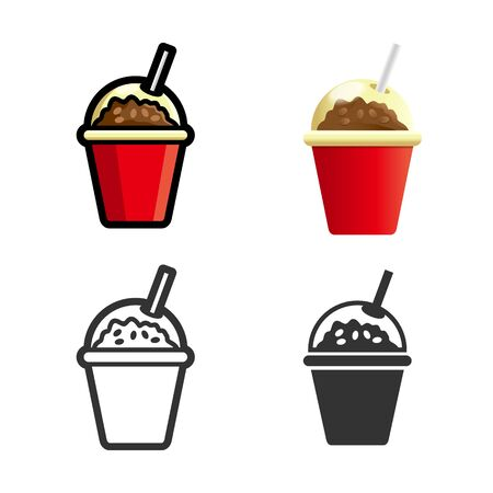 silhouette contour: Coffee drink cartoon, colored, contour and silhouette styles icon set. Tasty fast food unhealthy drink. Isolated dishes on white background.