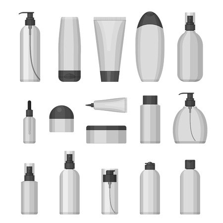 Set of vector cosmetic bottles for beauty