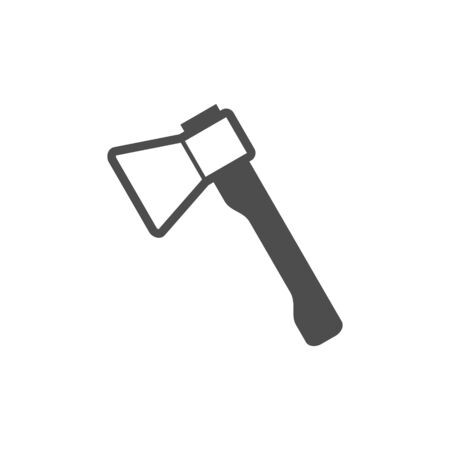 Axe black vector icon, garden tool, equipment and accessory. Isolated single illustration. Ilustracja