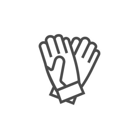 Gloves black vector icon, garden tools and accessories. Isolated single illustration.