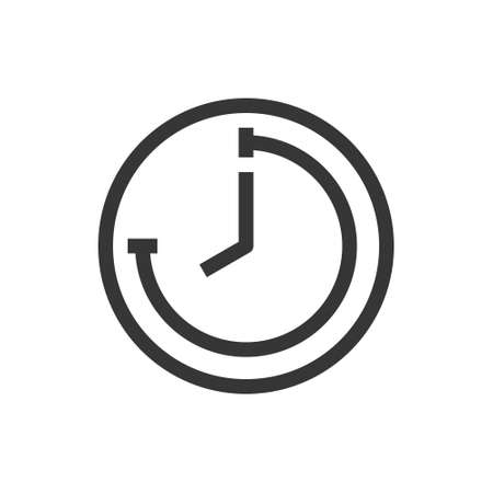 Time and clock line style isolated vector icon. Linear pictograms on white background. Interface icon Ilustrace