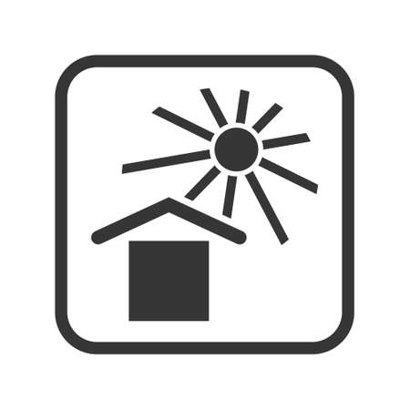 Keep away from the sun packaging and logistic vector isolated single icon. Packing marking sign and symbol
