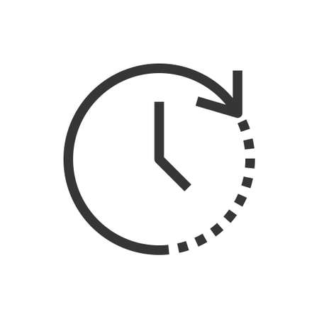 Time and clock line style isolated vector icon. Linear pictograms on white background. Interface icon 矢量图像
