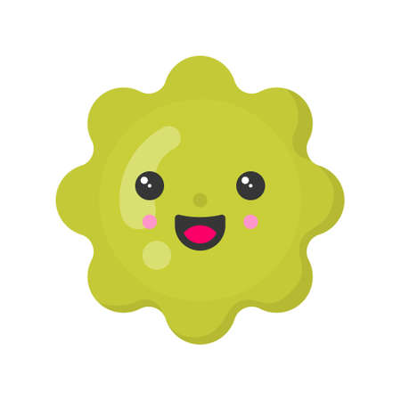 Cute smiling squash. Kawaii vegetable character. Isolated colorful vector icon 矢量图像