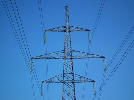 Electric mast of 400 KW Stock Photo
