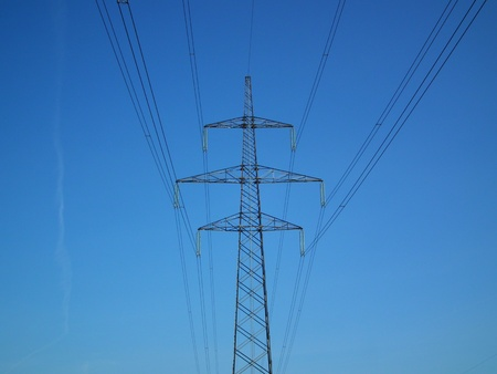 kw: Electric mast of 400 KW Stock Photo