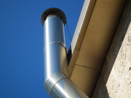 Aluminium chimney Stock Photo