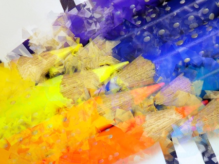 coloration: Artistic crayons Stock Photo