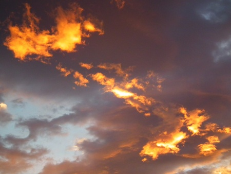 Fire on the sky Stock Photo - 10906508