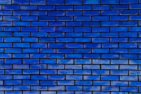 Blue bricked wall as beautiful texture.
