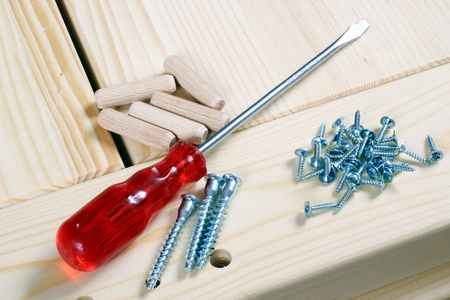 Design a new wardrobe with tools for carpenter.