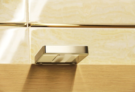Soap holder on the wall of the bathroom. Stock Photo - 12032963