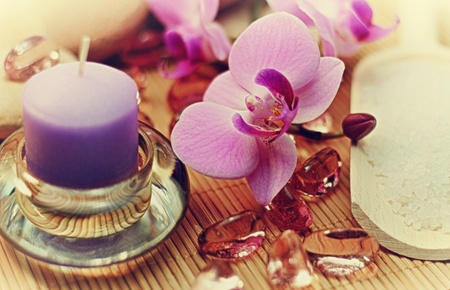 Concept of healthy life; spa treatment, relaxing, meditating, peaceful life. photo