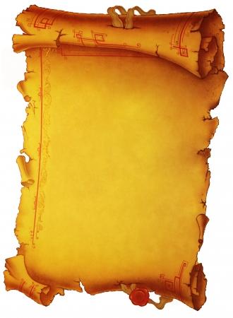пергамент: Старый фон пергаментной бумагой