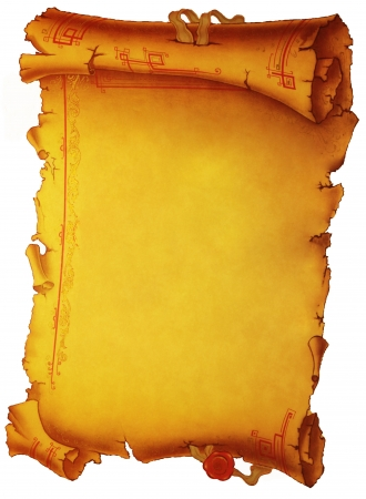 burnt: Old parchment paper background