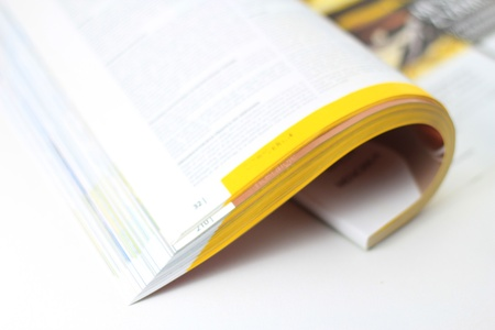 Pages of magazine