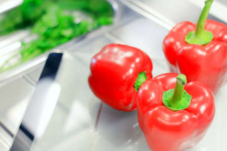 Fresh raw peppers, green parsley Stock Photo - 12667528