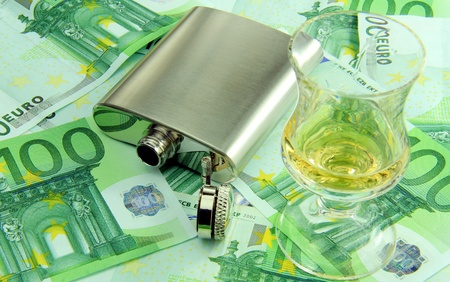 habbit: A concept of having a lot of expenses for alcohol  Stock Photo