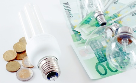 Expensive energy and green energy concept Stock Photo - 13132599