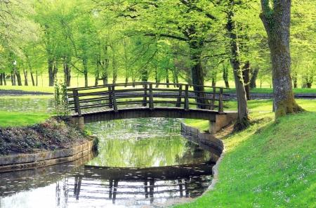 Kleine Brücke im Park
