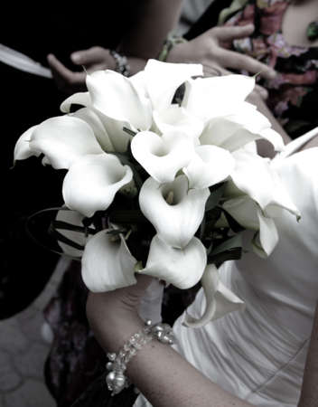 A wedding bouquet in hand of a bride  Stock Photo - 13881358