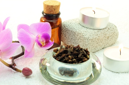 Spa orchid, cloves, candle