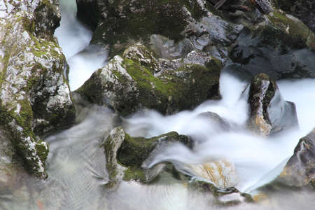 Fast rapids on river  Stock Photo