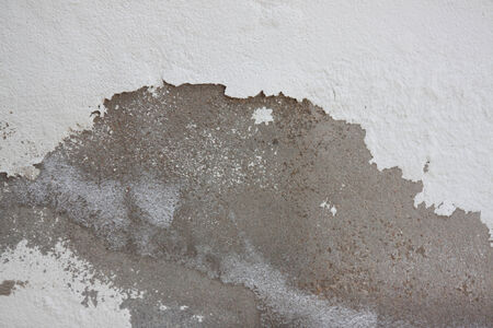 wall paint: Grungy cracked white wall paint peeling off Stock Photo