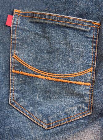 Back pocket jeans photo